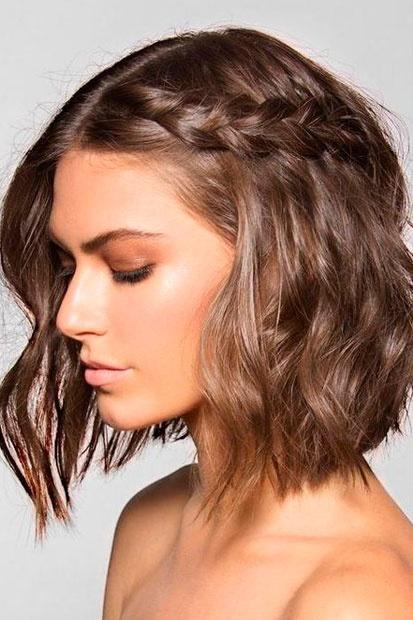 Sorprendentemente fácil peinados con trenzas pelo corto Galería de tendencias de coloración del cabello - Peinados y trenzas para cabello corto